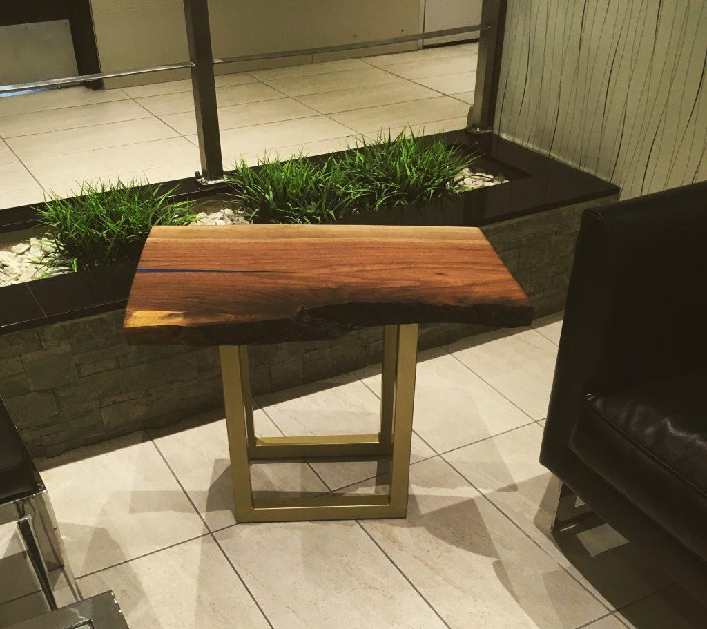 Walnut Side Table with Maui Epoxy Resin